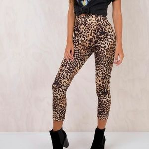 NWT Princess Polly Wilder Leopard high rise pants